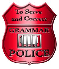 Grammar Police: To Serve and Correct